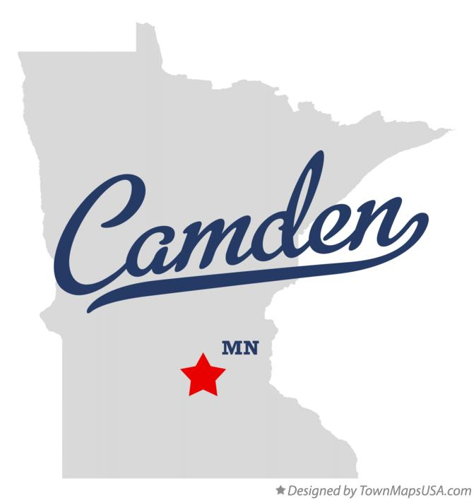 Map of Camden Minnesota MN