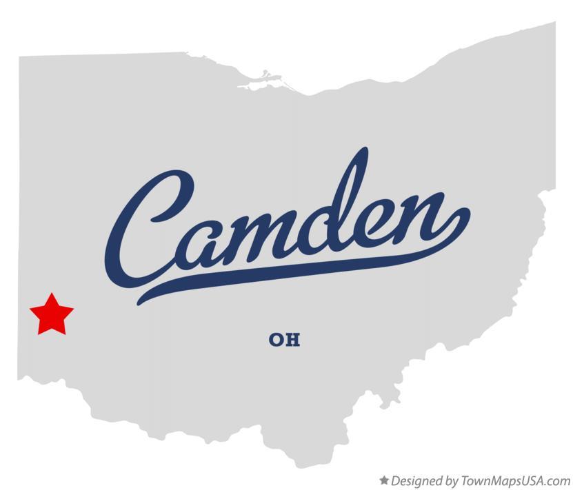 Map Of Camden Preble County Oh Ohio