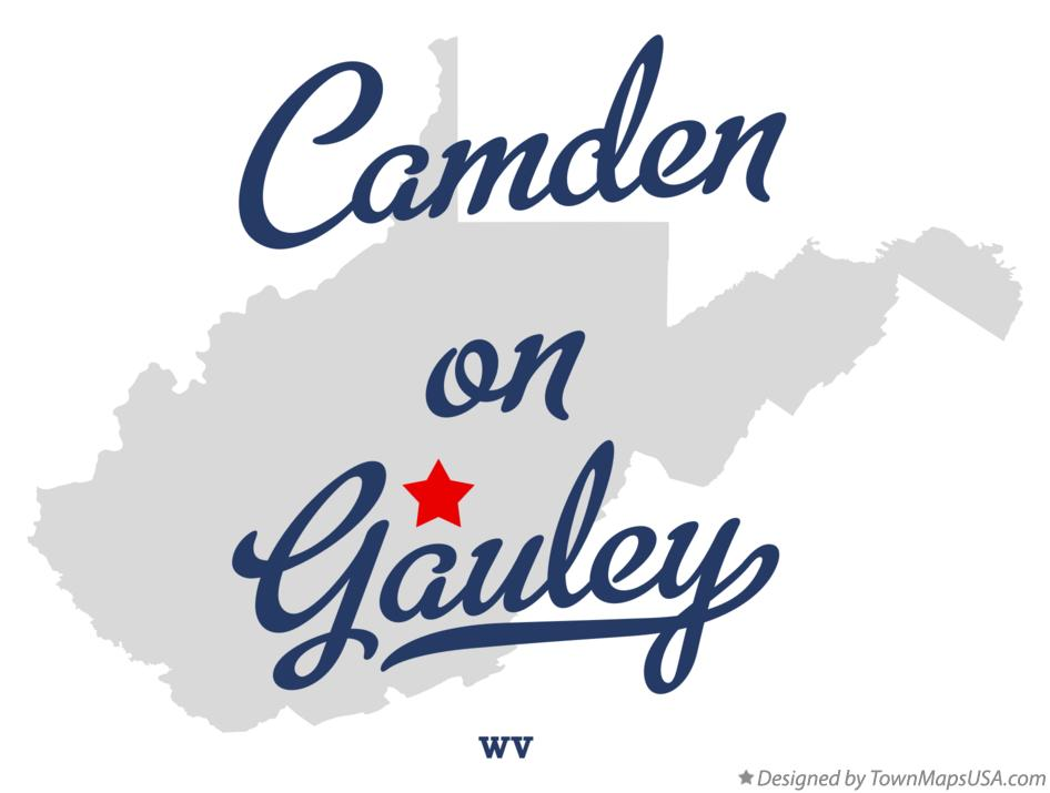 Map of Camden-on-Gauley West Virginia WV
