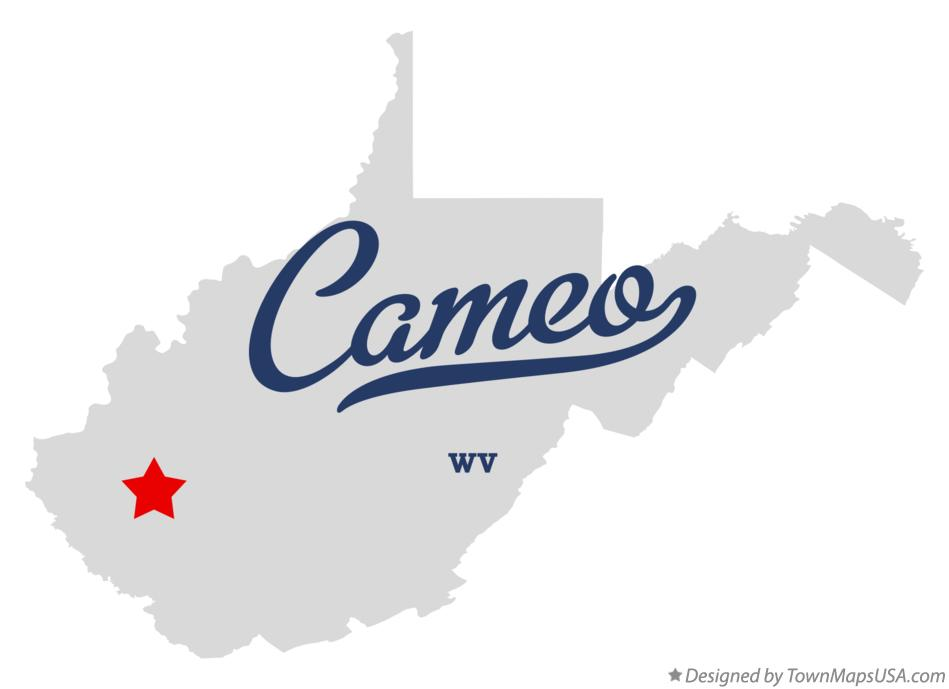 Map of Cameo West Virginia WV
