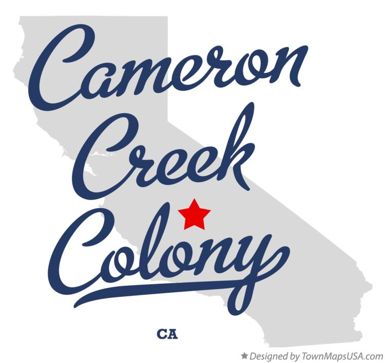 Map of Cameron Creek Colony California CA