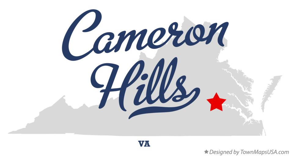 Map of Cameron Hills Virginia VA