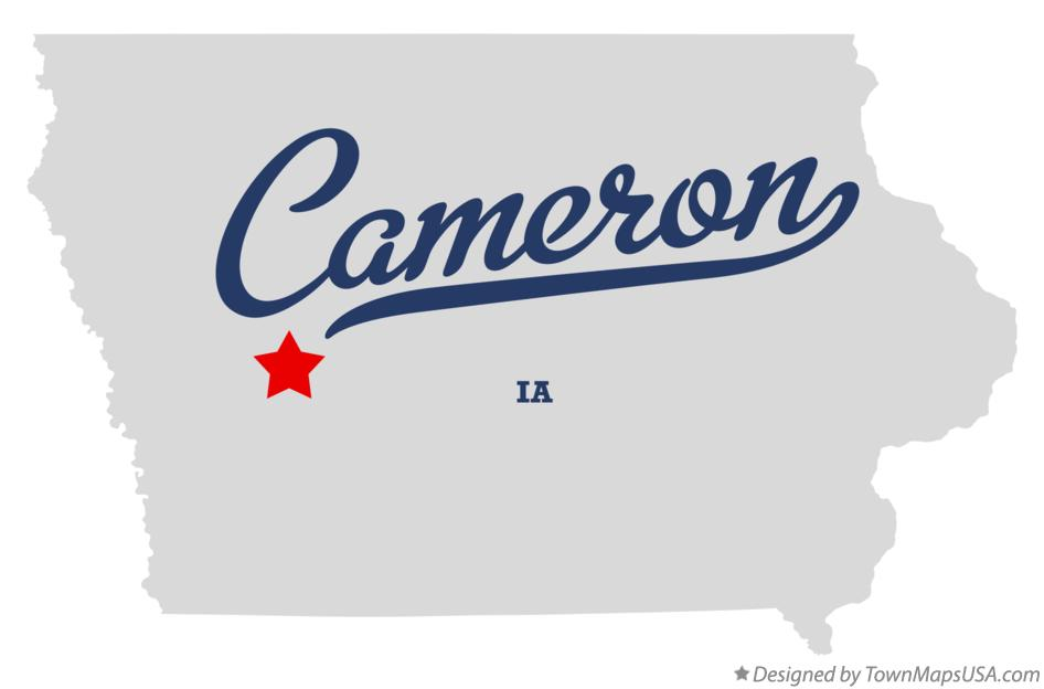 Map of Cameron Iowa IA