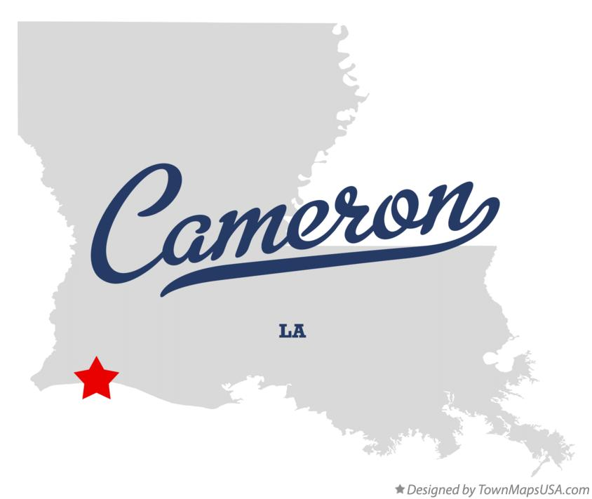 Map of Cameron Louisiana LA