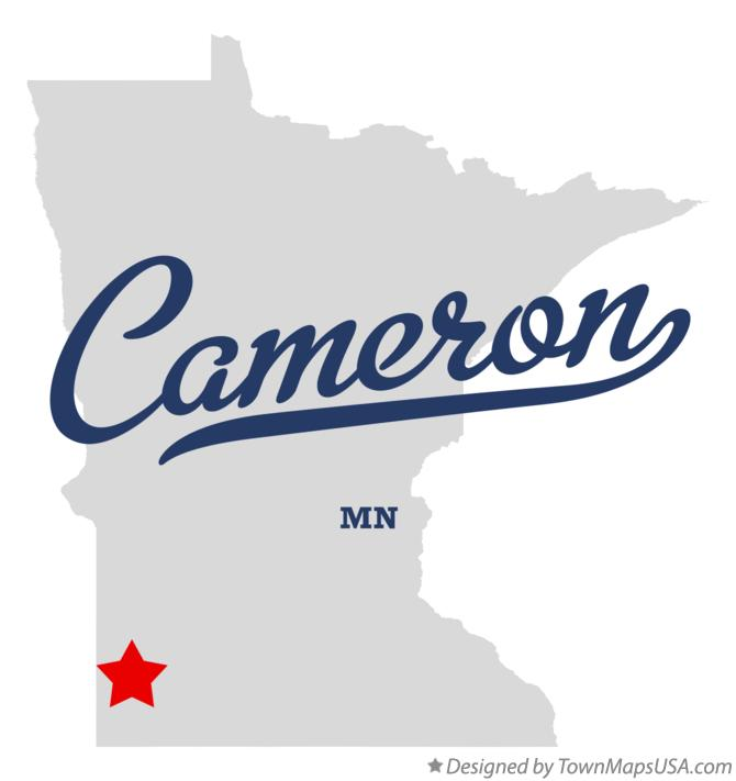 Map of Cameron Minnesota MN