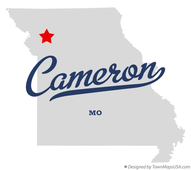 Map of Cameron Missouri MO