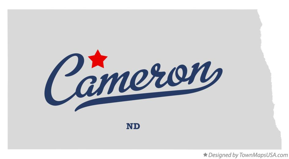 Map of Cameron North Dakota ND