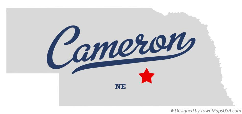 Map of Cameron Nebraska NE