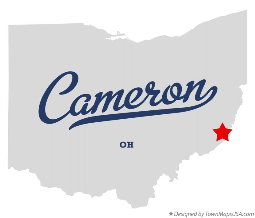 Map of Cameron Ohio OH