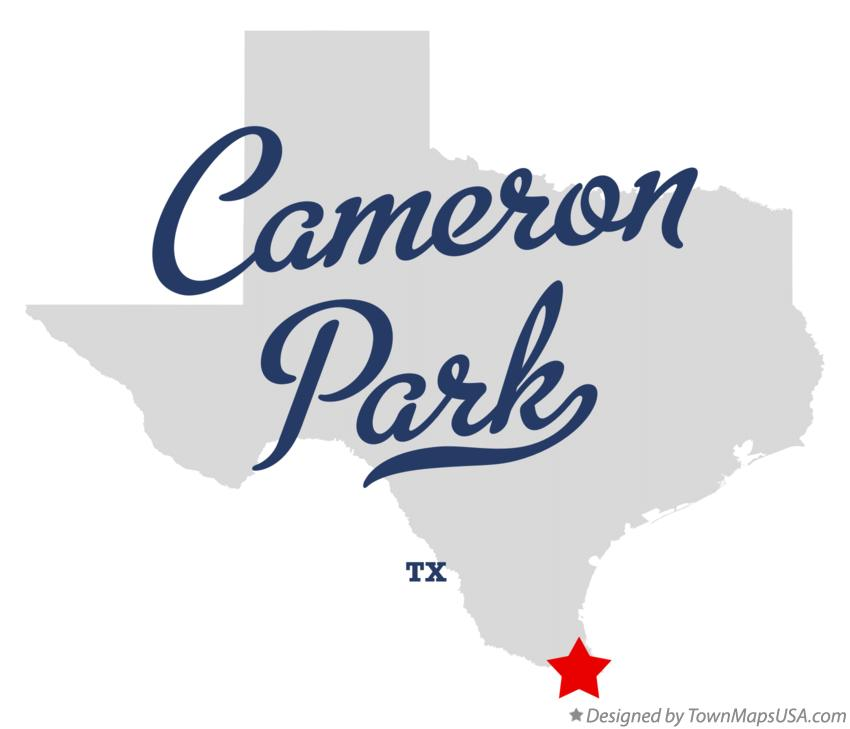 Map of Cameron Park Texas TX