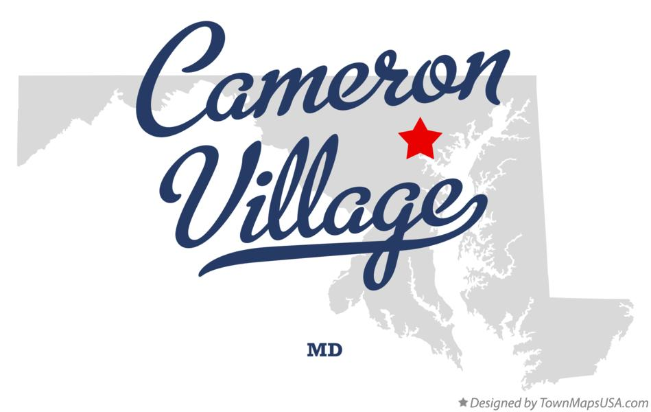 Map of Cameron Village Maryland MD