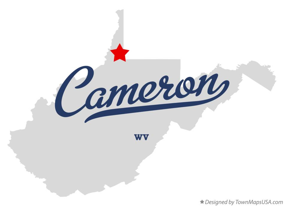Map of Cameron West Virginia WV