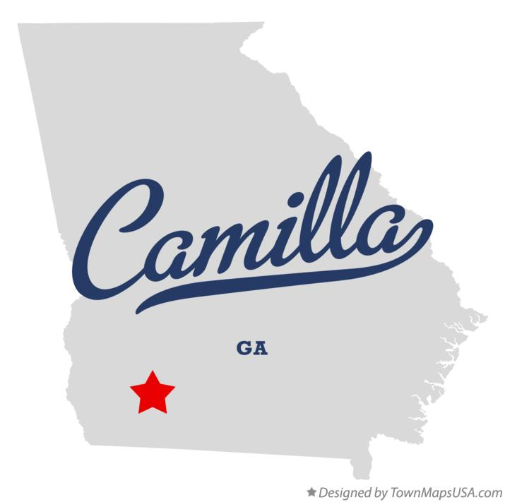 Map of Camilla Georgia GA