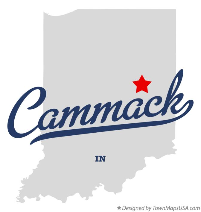 Map of Cammack Indiana IN