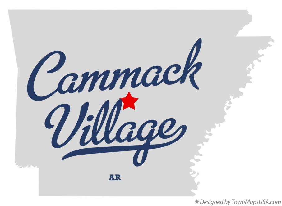 Map of Cammack Village Arkansas AR