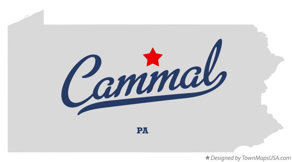Map of Cammal Pennsylvania PA