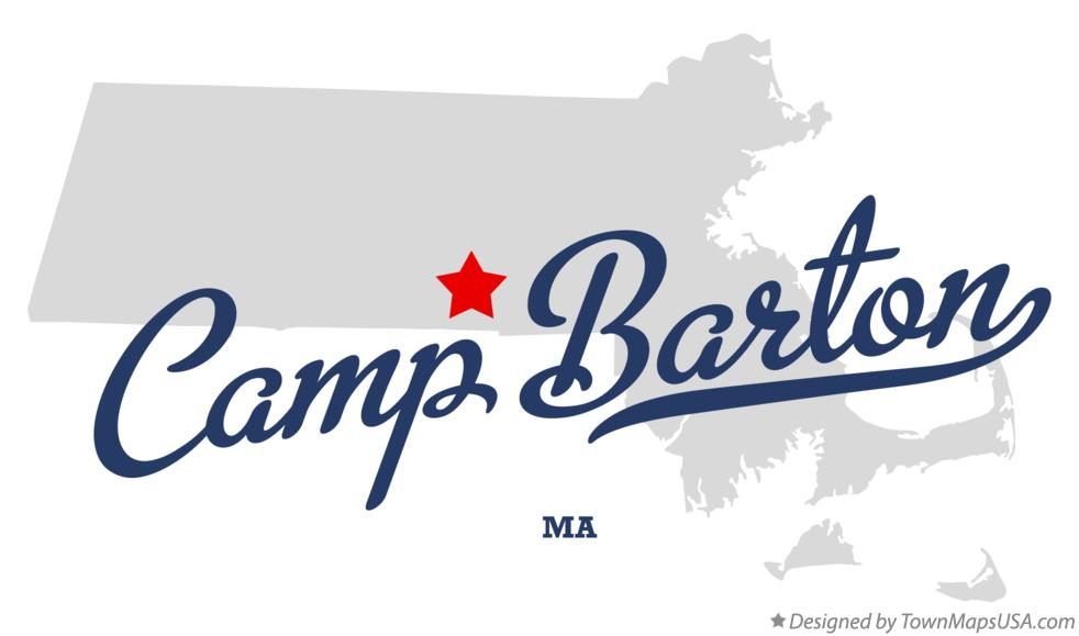 Map of Camp Barton Massachusetts MA