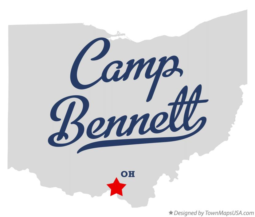 Map of Camp Bennett Ohio OH