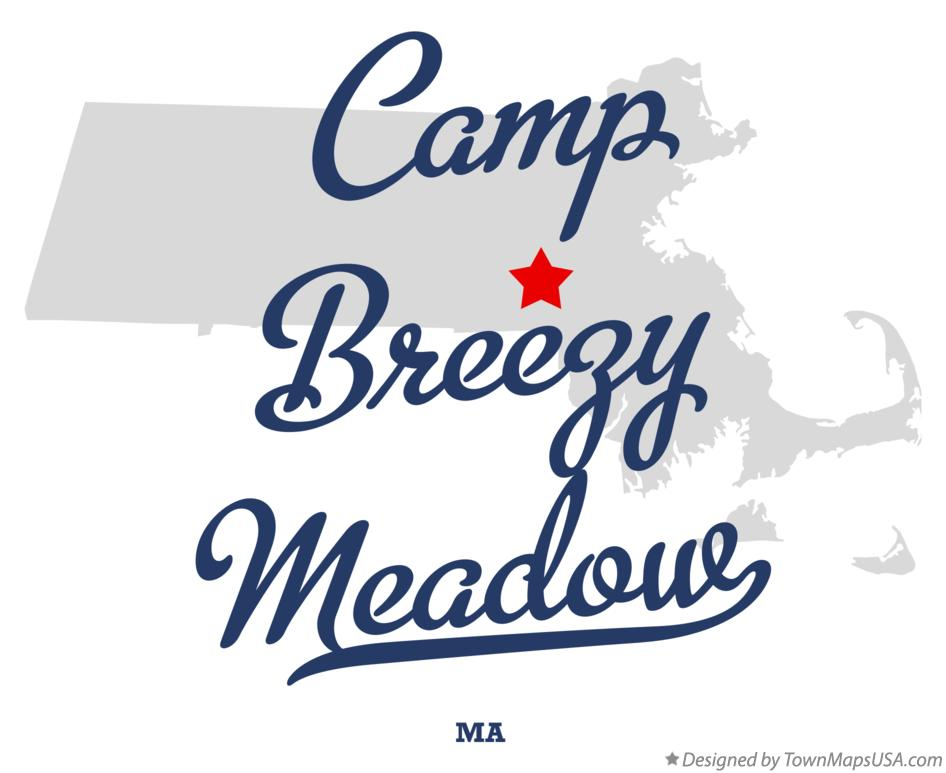 Map of Camp Breezy Meadow Massachusetts MA