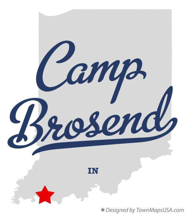 Map of Camp Brosend Indiana IN