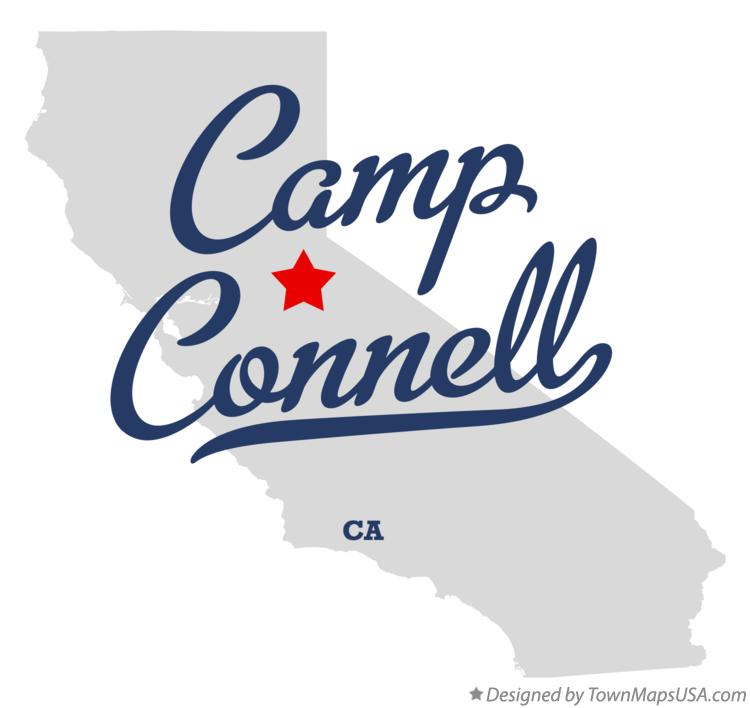Map of Camp Connell California CA