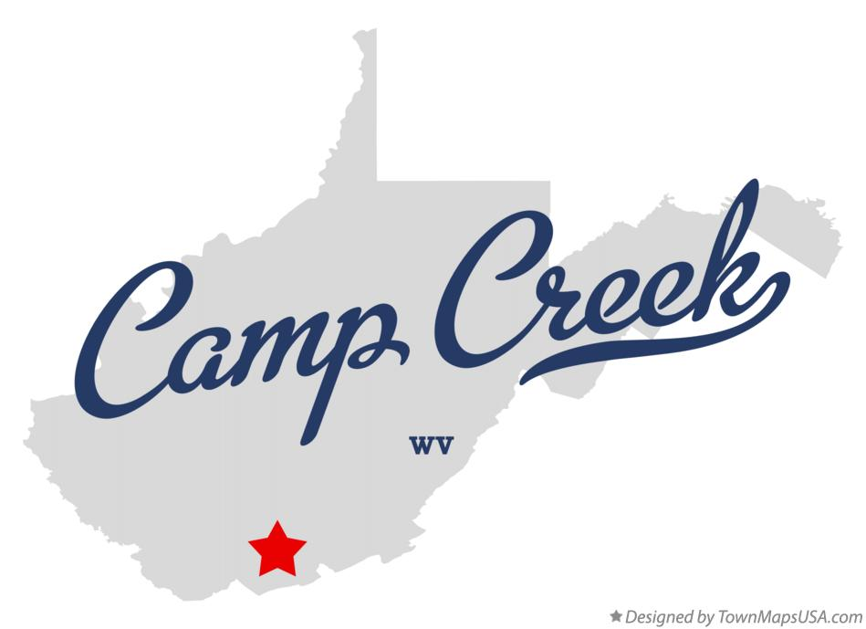 Map of Camp Creek West Virginia WV