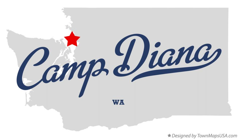 Map of Camp Diana Washington WA