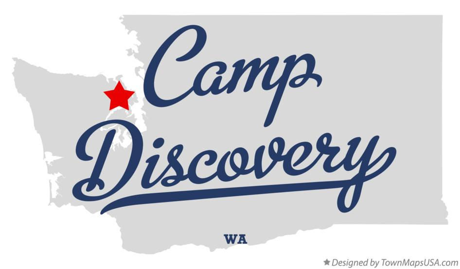 Map of Camp Discovery Washington WA