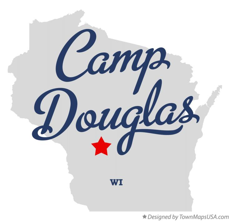 Map of Camp Douglas Wisconsin WI
