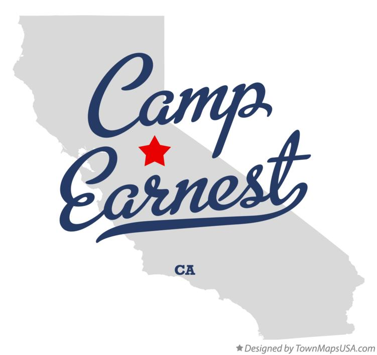 Map of Camp Earnest California CA