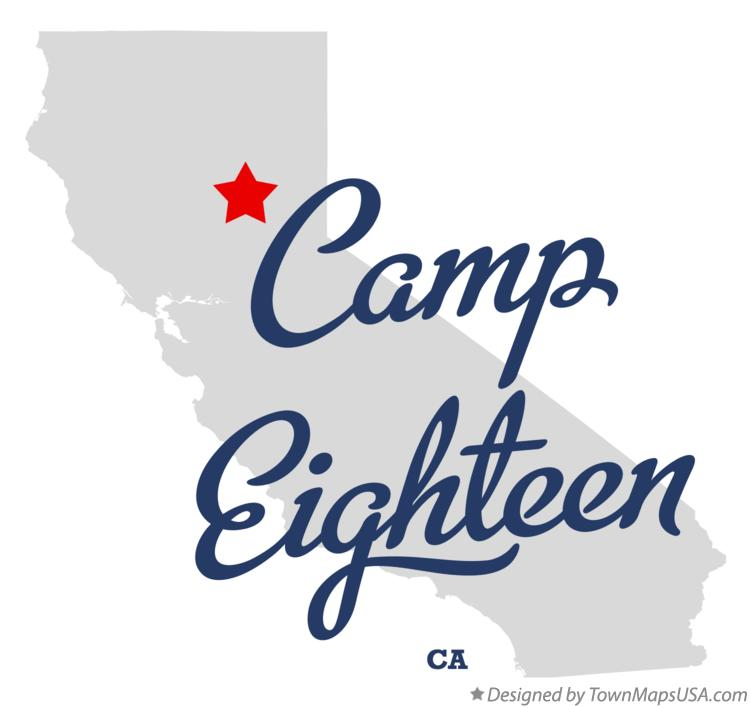 Map of Camp Eighteen California CA
