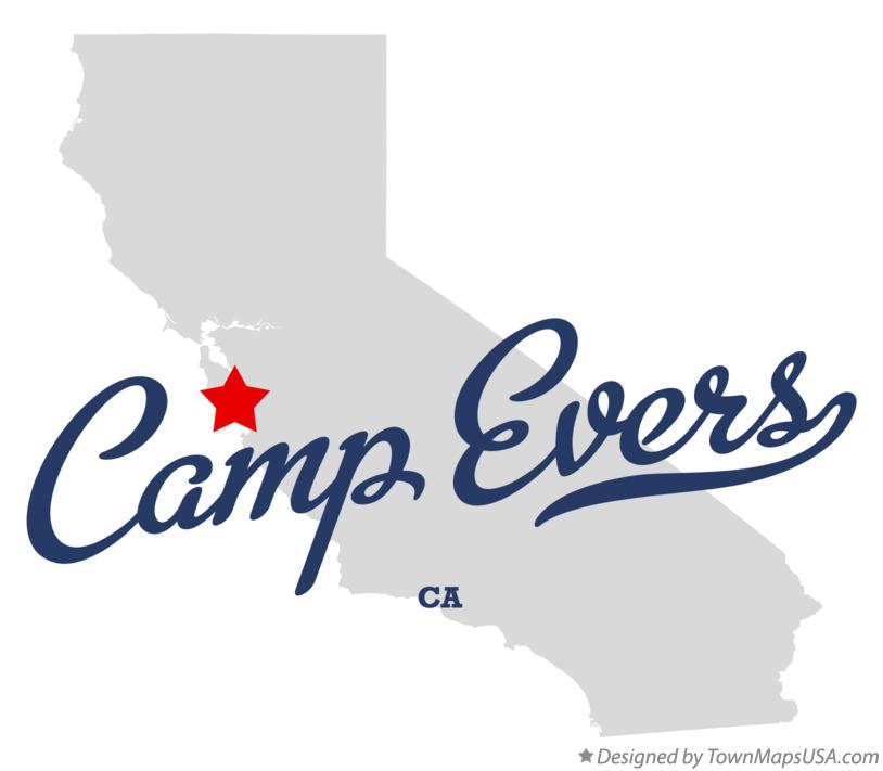 Map of Camp Evers California CA