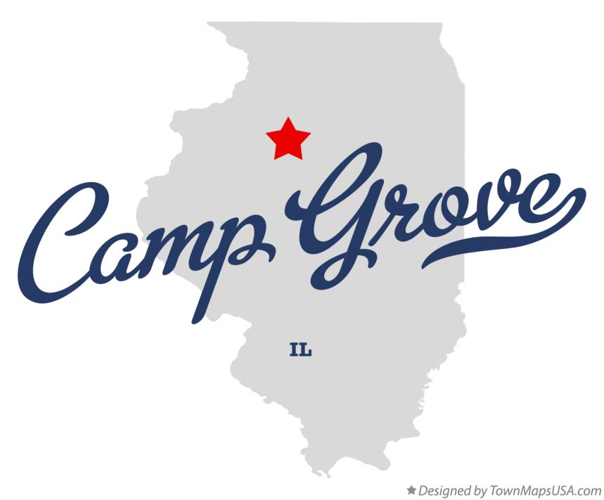 Map of Camp Grove Illinois IL