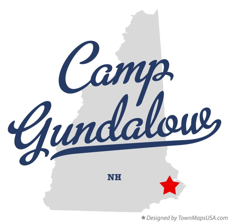 Map of Camp Gundalow New Hampshire NH