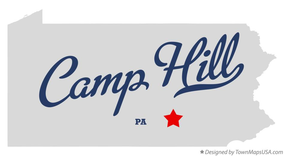 Map of Camp Hill Pennsylvania PA