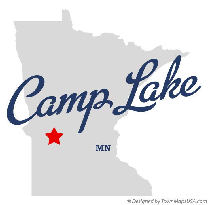 Map of Camp Lake Minnesota MN