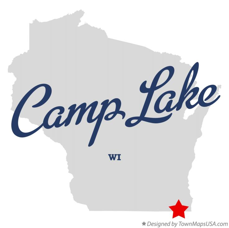 Map of Camp Lake Wisconsin WI