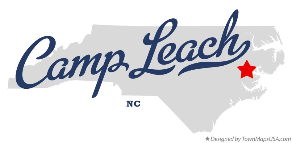 Map of Camp Leach North Carolina NC