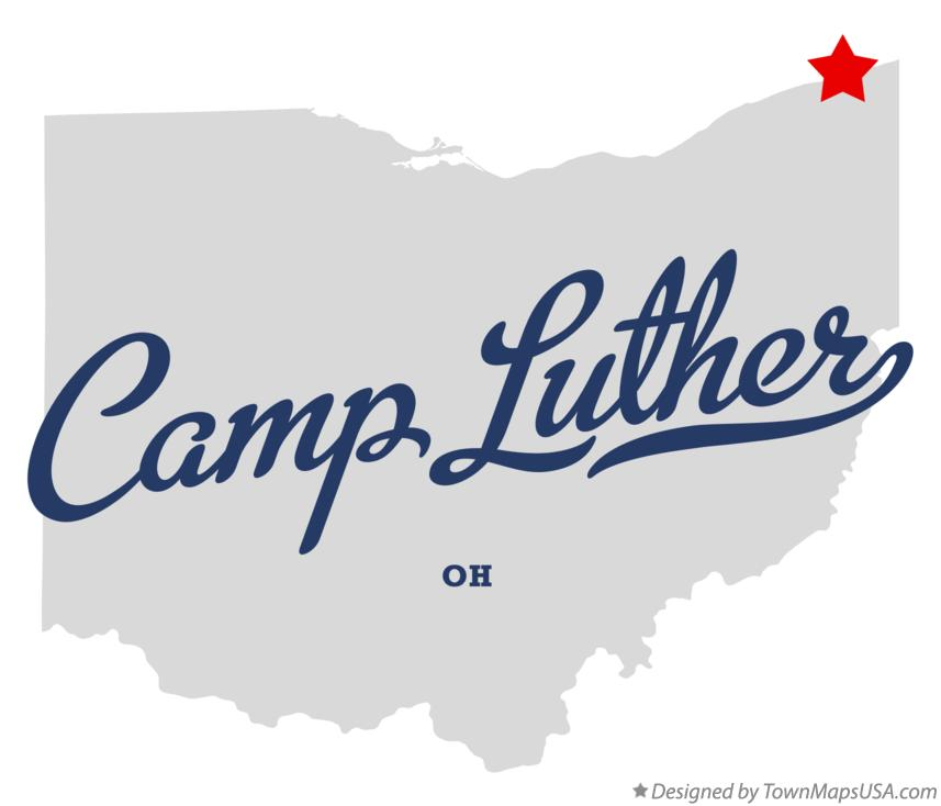 Map of Camp Luther Ohio OH