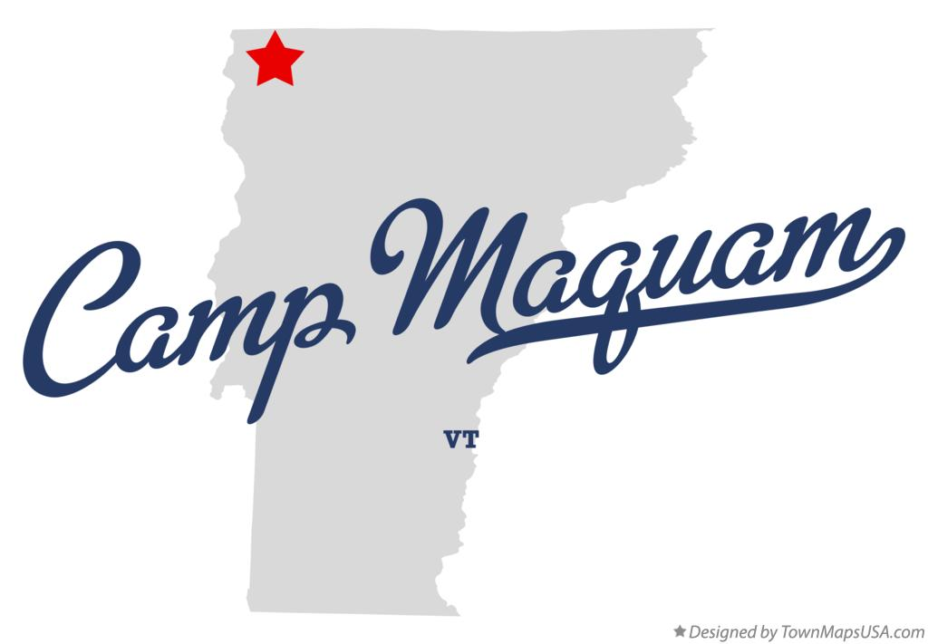 Map of Camp Maquam Vermont VT
