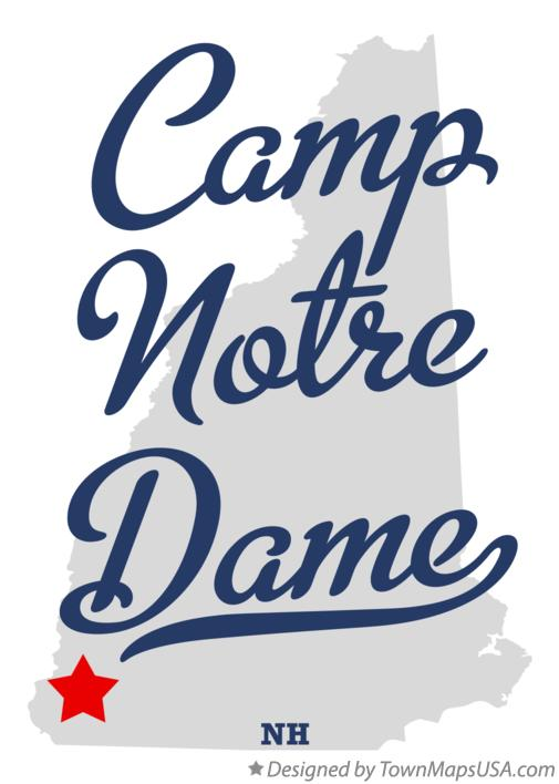 Map of Camp Notre Dame New Hampshire NH