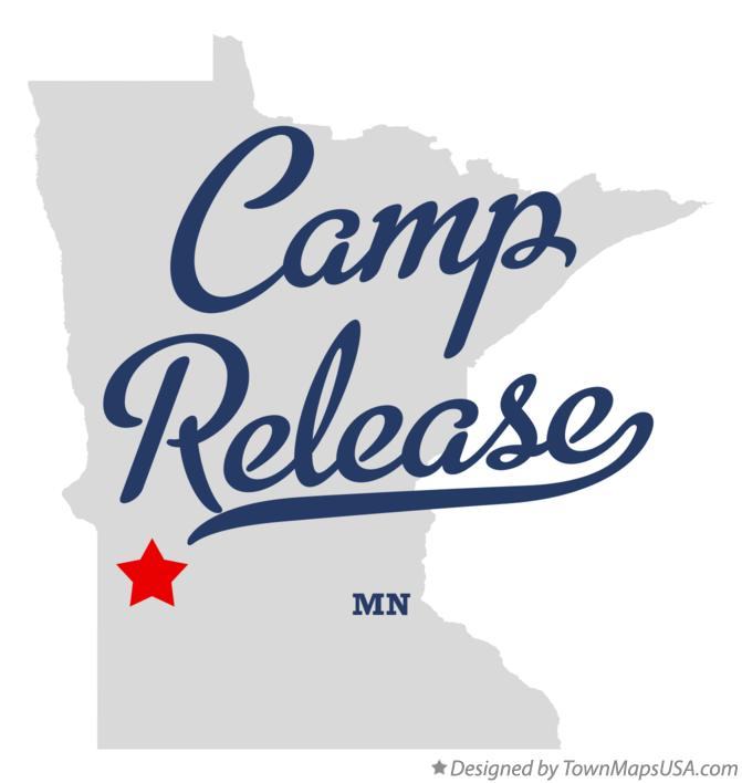 Map of Camp Release Minnesota MN
