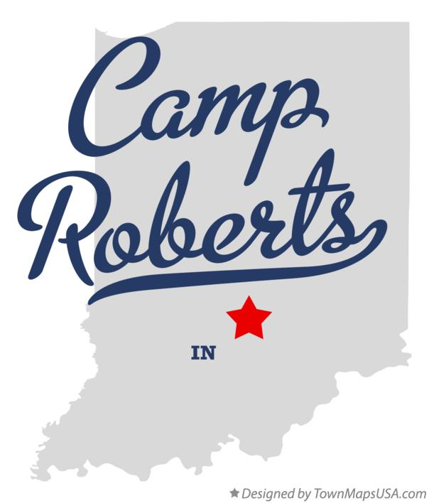 Map of Camp Roberts Indiana IN