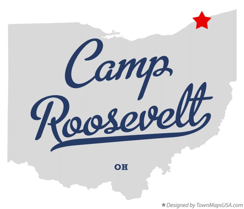 Map of Camp Roosevelt Ohio OH