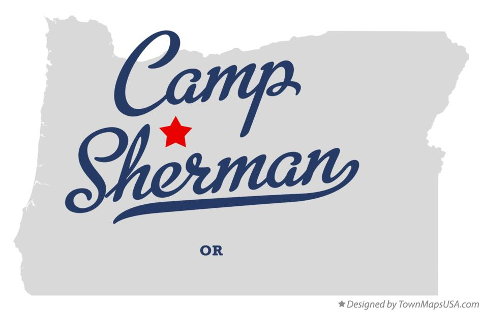 Map of Camp Sherman Oregon OR