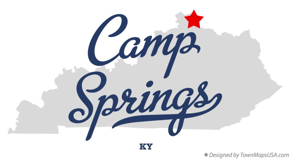 Map of Camp Springs Kentucky KY