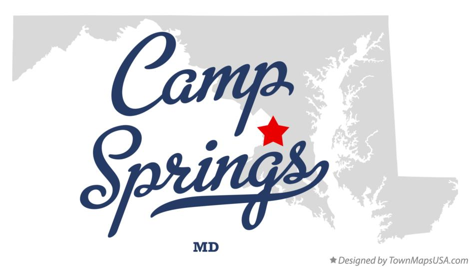 Map of Camp Springs Maryland MD