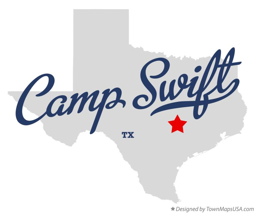Map of Camp Swift Texas TX