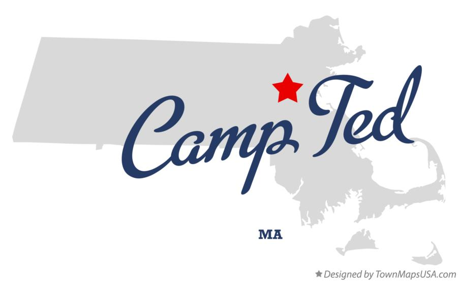 Map of Camp Ted Massachusetts MA