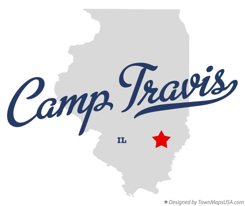 Map of Camp Travis Illinois IL